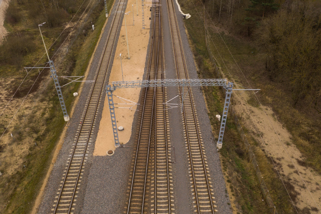Inspection drones for railway lines