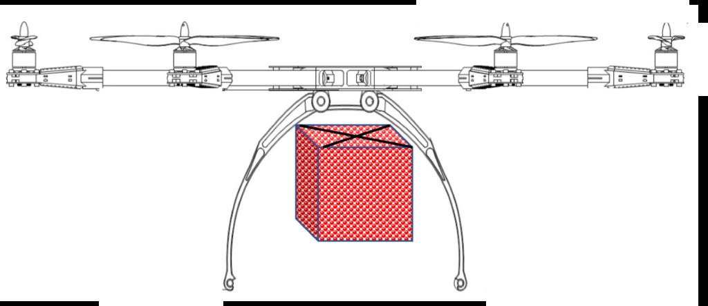 detachable food carton drone
