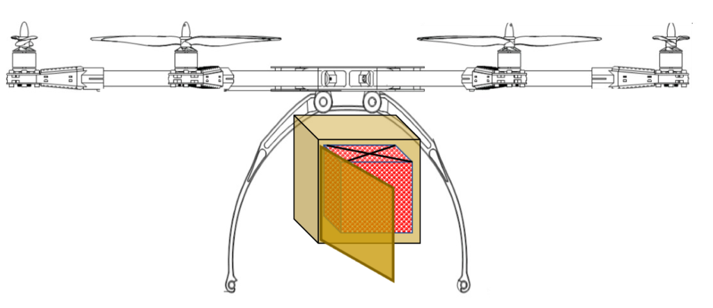 drone with food container