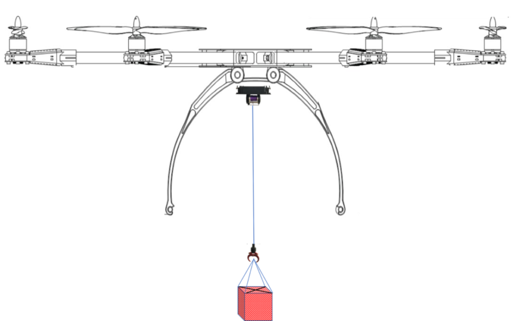 drone with winch and claw